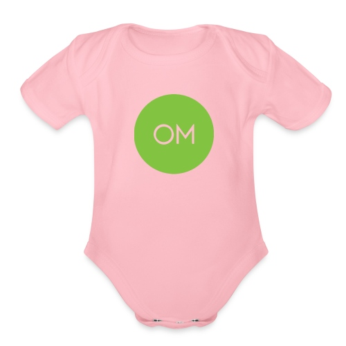 the om merch oficcial - Organic Short Sleeve Baby Bodysuit