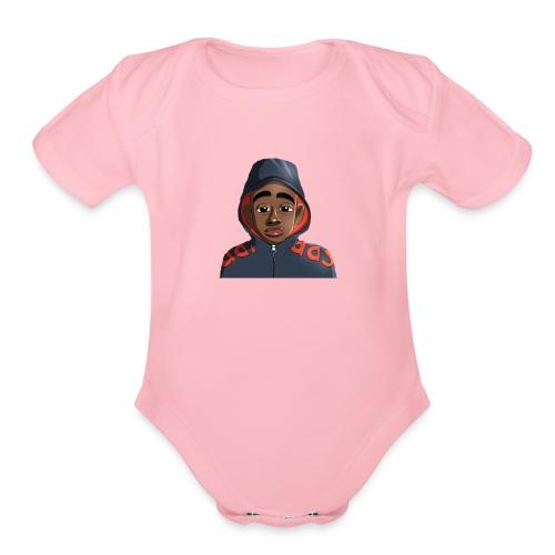 Aye Black Kid - Organic Short Sleeve Baby Bodysuit