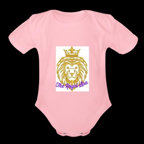 Royal Spa Treatment - Organic Short Sleeve Baby Bodysuit