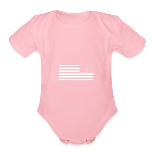 Reverse Flag - Organic Short Sleeve Baby Bodysuit