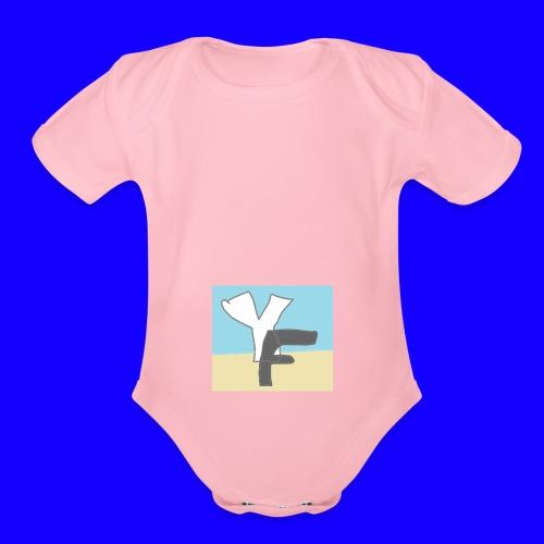 New Yikefilm Logo - Organic Short Sleeve Baby Bodysuit