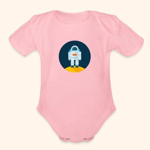 ASTRONAUT - Organic Short Sleeve Baby Bodysuit