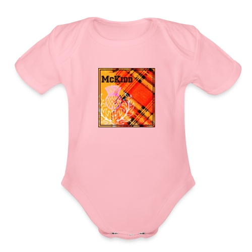 mckidd name - Organic Short Sleeve Baby Bodysuit