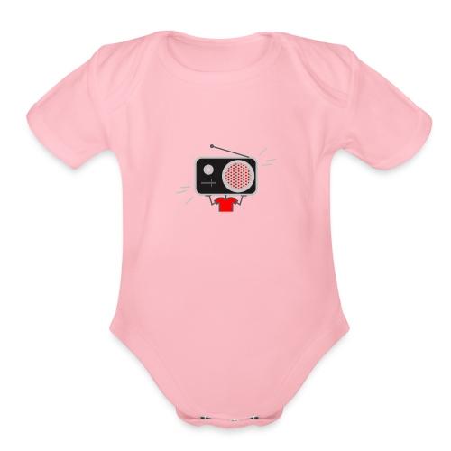 Red MusiqHead Merch - Organic Short Sleeve Baby Bodysuit