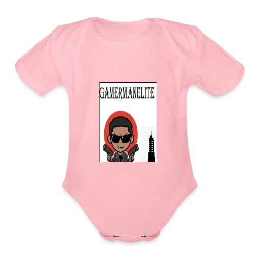 gamerman elite - Organic Short Sleeve Baby Bodysuit