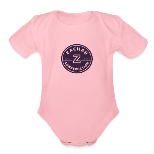Zachau Logo - Organic Short Sleeve Baby Bodysuit
