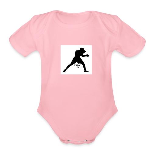ZAZOUB - Organic Short Sleeve Baby Bodysuit