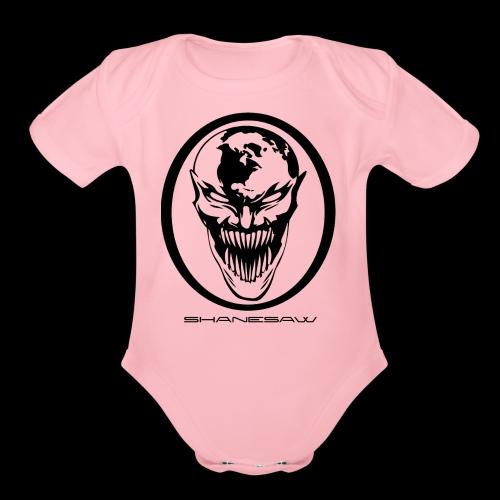 SHANESAW LOGO! - Organic Short Sleeve Baby Bodysuit