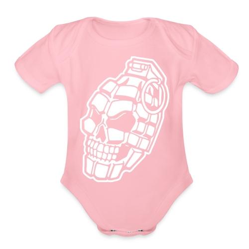 Skull Grenade - Organic Short Sleeve Baby Bodysuit