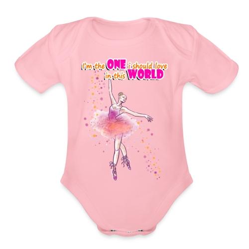 I m the one i should love - Organic Short Sleeve Baby Bodysuit