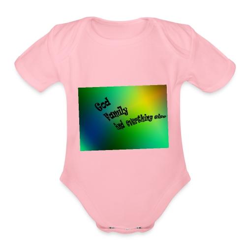 God Family And Everything Else - Organic Short Sleeve Baby Bodysuit
