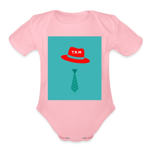 The Robloxian Musketeers Logo Merchandise - Organic Short Sleeve Baby Bodysuit