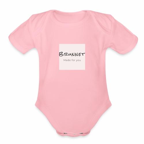 Brunnet pink edition - Organic Short Sleeve Baby Bodysuit