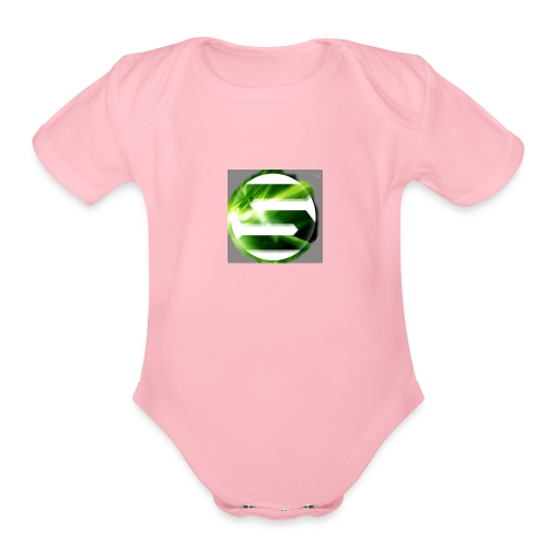 Spreadshirt_tryck_1_v2 - Organic Short Sleeve Baby Bodysuit