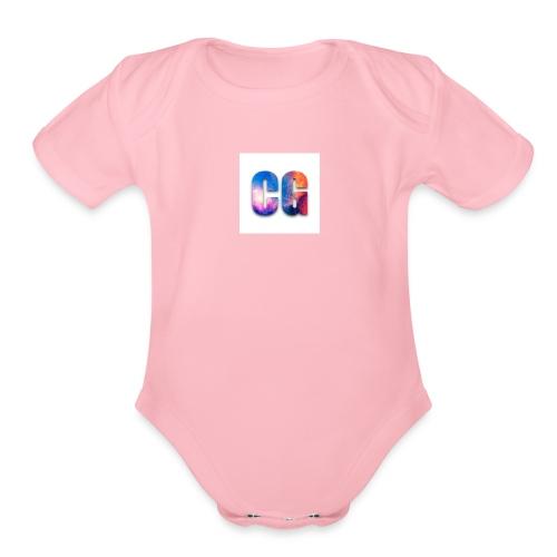 CG_Logo - Organic Short Sleeve Baby Bodysuit