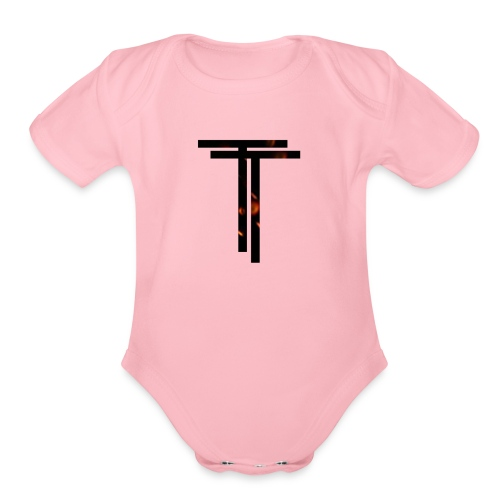 The logo! - Organic Short Sleeve Baby Bodysuit