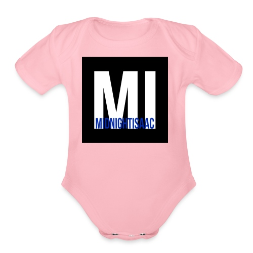 midnightisaac - Organic Short Sleeve Baby Bodysuit