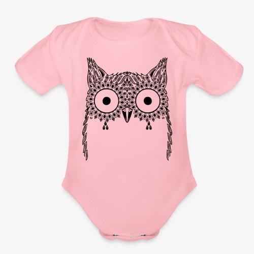 Black Owl Design - Organic Short Sleeve Baby Bodysuit