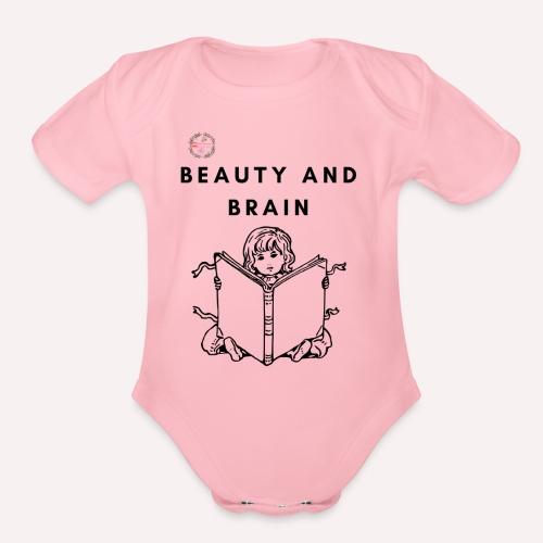 The stylish bookworm collection - Organic Short Sleeve Baby Bodysuit
