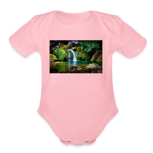 waterfall wallpaper desktop - Organic Short Sleeve Baby Bodysuit