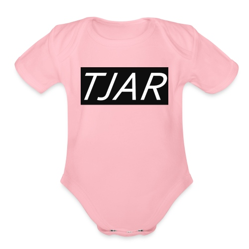 This is the brand name of my business. - Organic Short Sleeve Baby Bodysuit