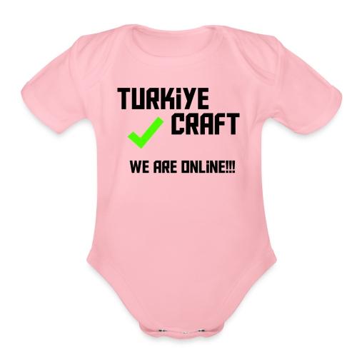we are online boissss - Organic Short Sleeve Baby Bodysuit