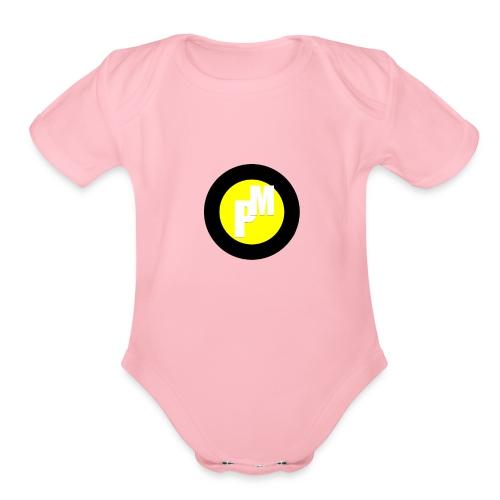 M3ga Merch Yellow - Organic Short Sleeve Baby Bodysuit