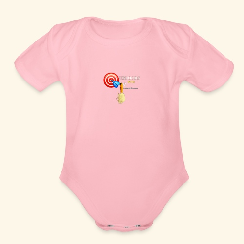 Outdoors with Oge Target and Jighead Logo - Organic Short Sleeve Baby Bodysuit
