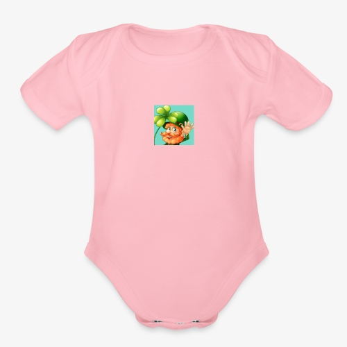 Mae good luck - Organic Short Sleeve Baby Bodysuit