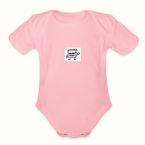 None - Organic Short Sleeve Baby Bodysuit