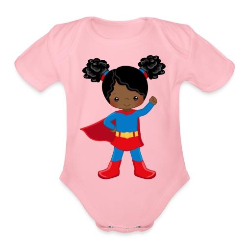 SUPER SIMONE - Organic Short Sleeve Baby Bodysuit