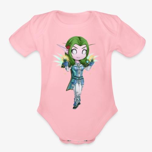 WoW Priest - Organic Short Sleeve Baby Bodysuit
