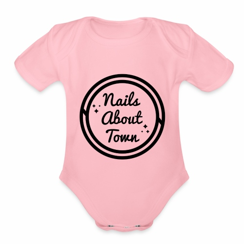 Nails About Town 1 - Organic Short Sleeve Baby Bodysuit