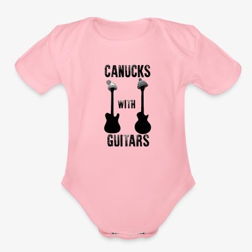 CWGCLRBLK - Organic Short Sleeve Baby Bodysuit