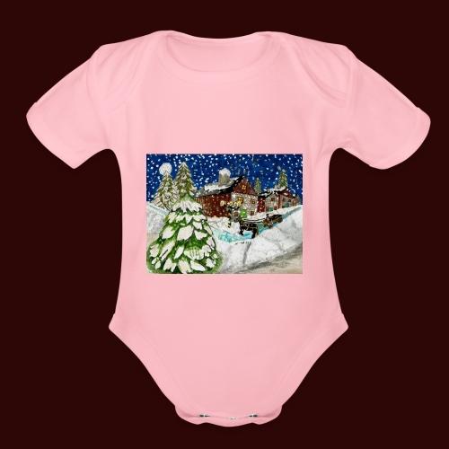 Old Christmas - Organic Short Sleeve Baby Bodysuit