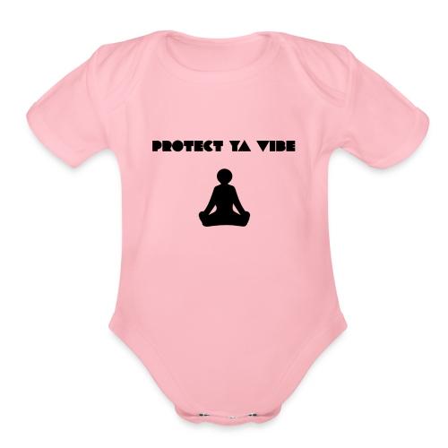 Protect Ya Vibe - Organic Short Sleeve Baby Bodysuit