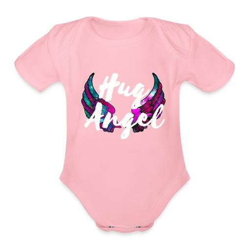 Hug Angel Graffiti - Organic Short Sleeve Baby Bodysuit