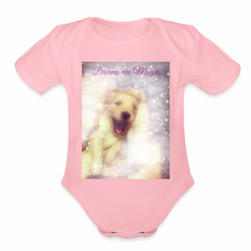 Dreams are Magic - Organic Short Sleeve Baby Bodysuit