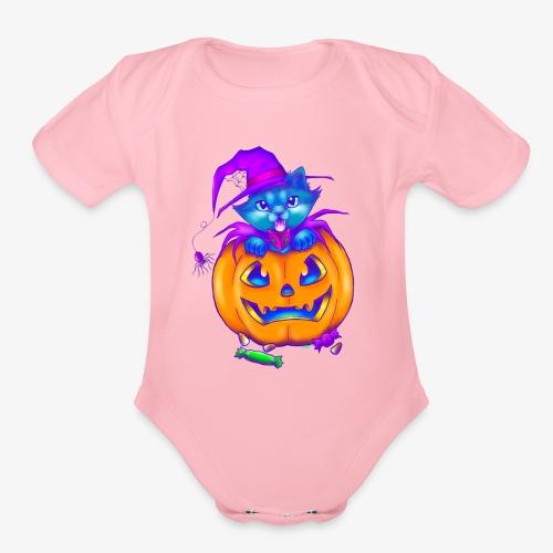 halloweenspecial - Organic Short Sleeve Baby Bodysuit