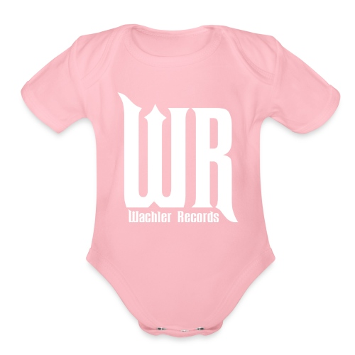 Wachler Records Light Logo - Organic Short Sleeve Baby Bodysuit