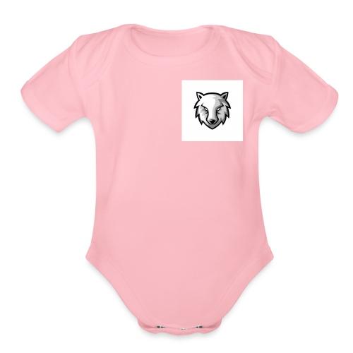 new wolf hoodie - Organic Short Sleeve Baby Bodysuit