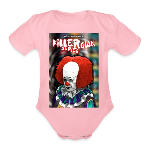clown series - Organic Short Sleeve Baby Bodysuit