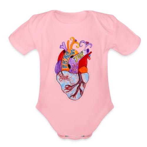 heartverse - Organic Short Sleeve Baby Bodysuit