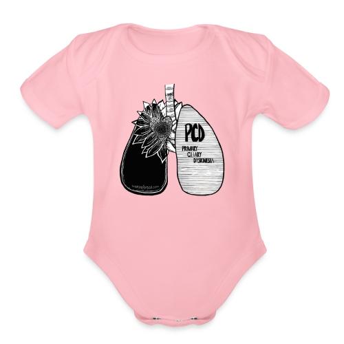 sunflower lungs si design - Organic Short Sleeve Baby Bodysuit