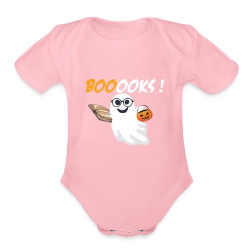 Booooks ghost - Organic Short Sleeve Baby Bodysuit