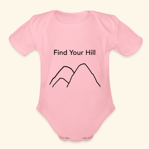 Find Your Hill - Organic Short Sleeve Baby Bodysuit