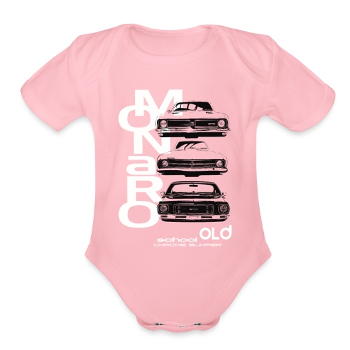 monaro over - Organic Short Sleeve Baby Bodysuit