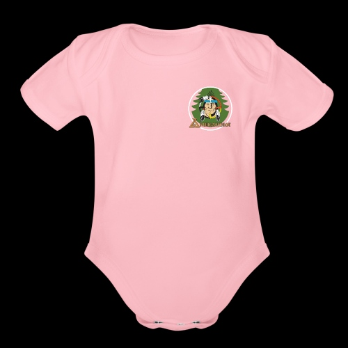 Archigantegou Logo Color - Organic Short Sleeve Baby Bodysuit