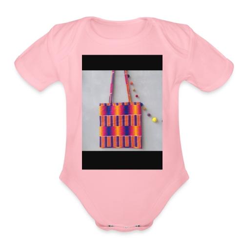 ANKARA TOTE BAG DESIGN - Organic Short Sleeve Baby Bodysuit