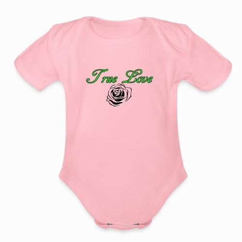 True Love - Organic Short Sleeve Baby Bodysuit